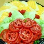 American & Swiss Cheese tray with lettuce & tomatoes