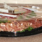 Deli Style lunch meat, Fresh Vegetable, & Cheese trays (click on image for full view)